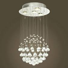 beautiful sheer shade crystal ball chandelier picture design