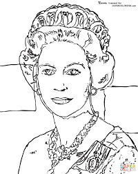 Small Picture Queen Elizabeth By Andy Warhol coloring page Free Printable