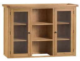chichester oak large sideboard dresser top with glass doors