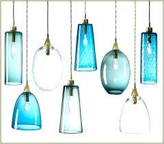 decoration teal glass pendant light blown new custom lights hand made pendants