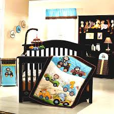 baby boy nursery bedding ideas with black crib and glass window wooden frames and grey carpet