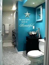 stunning dark blue bathroom walls beautiful teal bathroom wall with black and white flooring with wall mural stating be your bathroom light fixtures ceiling