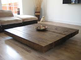 coffee table lower and oversized block butcher coffee table idea for simple modern rustic living