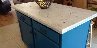 making a concrete countertop island