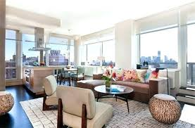 condo living room decorating ideas ottoman dining decor pouf