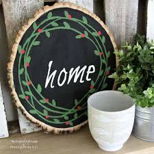wood slice painted wreath diy decor