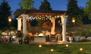 outdoor pergola lighting low voltage outdoor lighting pergola