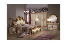 Italienisches Barock Schlafzimmer Alessia In Beigegold 6 Teilig 180