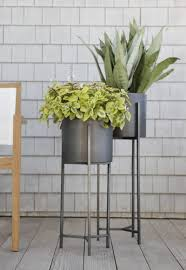Mid Century Plant Stand Planters For Outdoor Room Dundee Floor Planters Crate And