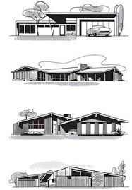 modern architectural drawings. Mad For Mid-Century: Mid-Century Home Illustrationsmid Century Modern Architecture Architectural Drawings E