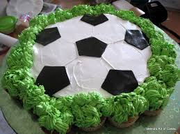 How To Decorate A Soccer Ball Cake Pullapart Cupcake Soccer Ball cake Veena Azmanov 35