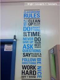 wise decor wall decal with classroom rules