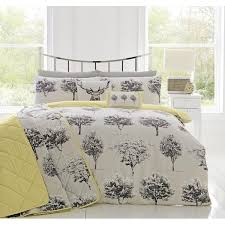 appletree rothay woodland theme cotton reverse duvet set