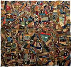 517 best Crazy Quilting - Antique / Vintage images on Pinterest ... & Wool Crazy Quilt, c. 1900, unknown maker, Eastern United States Adamdwight.com