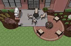 square patio designs. Paver Patio Addition Square Designs