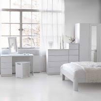 White Gloss Bedroom Furniture plus high gloss drawers plus ivory ...