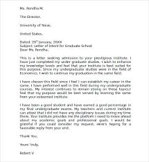 Sample Letter Of Intent For Graduate School Template Business