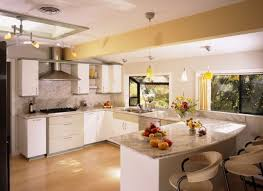 Kitchen Idea Plush White Cabinet Kitchen Idea With Marble Countertop And Yellow