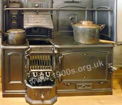 old victorian or edwardian coal fired kitchen range also known as a kitchener