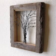 barbed wire tree wall art