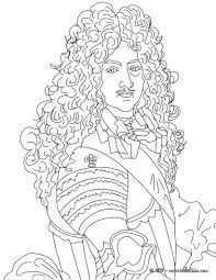Small Picture King LOUIS XIV The Sun King coloring page Mystery of History 3