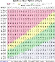 Body Mass Index Bmi Chart Health Power