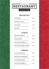 Word Restaurant Menu Templates 47 Blank Menu Templates Psd Eps Pdf Pages Free Premium