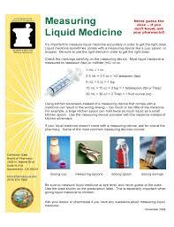Liquid Medicine Measurements Chart Free Download