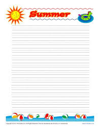 summer printable lined writing paper summer lined writing paper