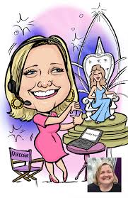 laura did a series of gift caricatures for viva creative these were for mary kay members with instructions to make them pink feminine with sparkles