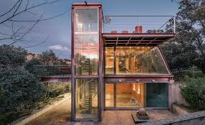 green eco office building interiors natural light. Ship-like Hidden Pavilion Uses The Surrounding Forest Like A Protective Envelope Green Eco Office Building Interiors Natural Light