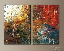 red and brown wall art color splash abstract art painting image by red and brown metal
