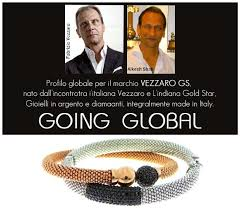 global profile for the vezzaro gs brand born from the union of italian vezzaro indian gold star jewellery in silver and diamonds fully made in italy