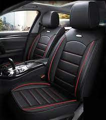 black red pu leather car seat cover for
