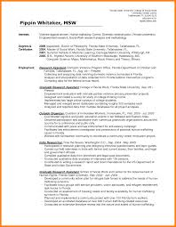 Social Worker Resumes Resume For Study