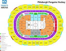 Pittsburgh Ppg Arena Seating Chart The Incredible And Beautiful Penguins Seating Chart