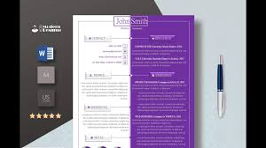 How To Do A Modern Resume Modern Resume Cv Template Made In Microsoft Word Youtube