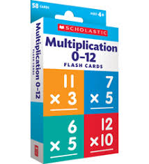 Flash Cards Multiplication 0 12 By