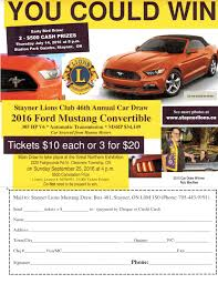 car draw stayner lions club click and to your computer