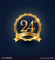 24th Anniversary Celebration Badge Label In