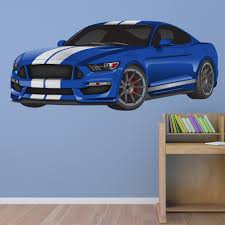 blue sports car wall sticker race car wall decal boys bedroom home decor