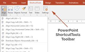 change powerpoint shortcut keys