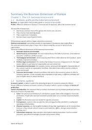 Nage Unit 6 Salary Chart Summary The Business Dimension Of Europe Exam Hhs Studocu