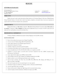 maintenance engineer resume