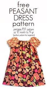 Peasant Dress Pattern Mesmerizing Learn How To Sew A Peasant Dress With This Free Pattern Sz 48 Mo To