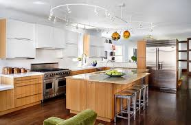 kitchens with track lighting. Vibrant Ideas Track Lighting Kitchen Modern Stunning LED Design Lights Kitchens With C