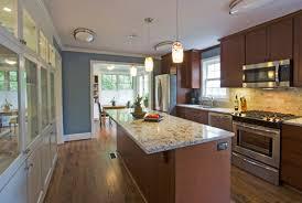 Blue Kitchen Decorating Kitchen Decorating Design Ideas Using Solid Walnut Wood Kitchen