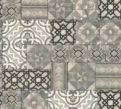 wallpaper moroccan tiles grey silver