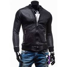 Slim Fit Faux Leather Jacket Men | Black Quilted Motorcycle Jacket ... & Slim Fit Black Quilted Faux Leather Motorcycle Jacket for Mens Adamdwight.com