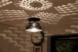 Colander lampshade